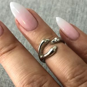 SILVER KNUCKLE RINGS - SET OF 2